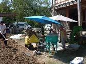 formations à la production de briques en terre crue compressée pour un démarrage de chantier